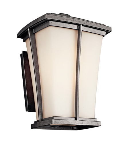 Kichler Lighting Brockton 1 Light Fluorescent Outdoor Wall Lantern in Anvil Iron 49217AVIFL photo