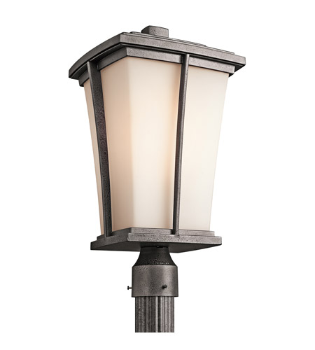 Kichler Lighting Brockton 1 Light Outdoor Post Lantern in Anvil Iron 49218AVI photo