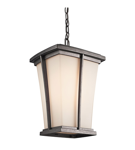 Kichler Lighting Brockton 1 Light Outdoor Pendant in Anvil Iron 49219AVI