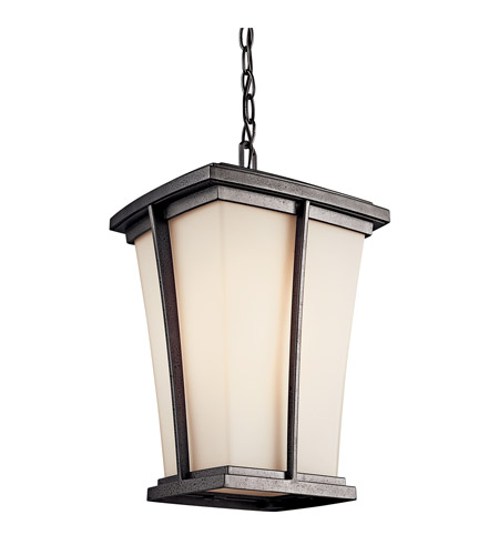 Kichler Lighting Brockton 1 Light Fluorescent Outdoor Ceiling in Anvil Iron 49219AVIFL photo