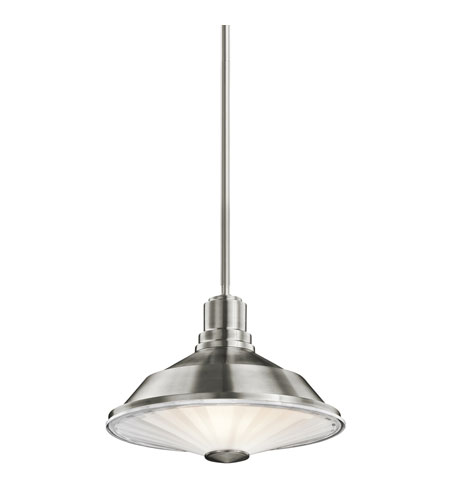 Kichler Lighting Point Judith 1 Light Outdoor Pendant in Stainless Steel 49224SS