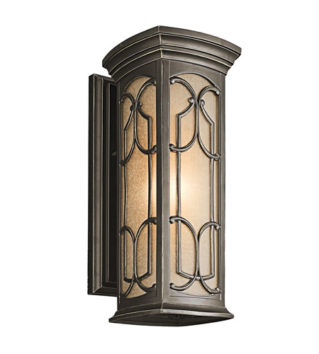 Kichler 49227OZ Franceasi 1 Light 18 inch Olde Bronze Outdoor Wall Lantern in Standard photo
