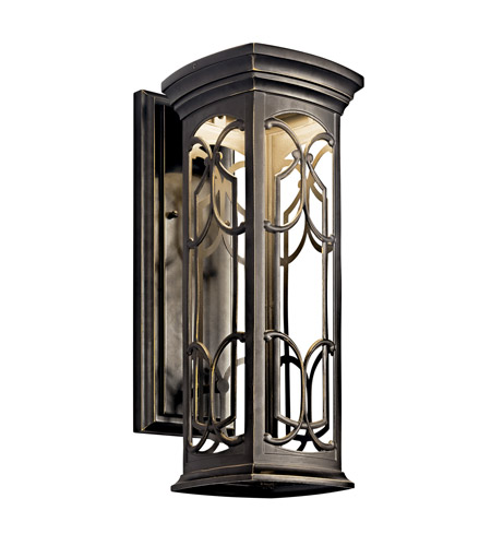Kichler Lighting Franceasi LED Outdoor Wall Lantern in Olde Bronze 49227OZLED photo