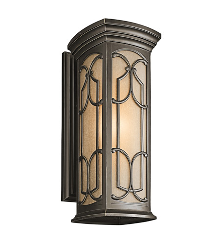Kichler 49228OZ Franceasi 1 Light 22 inch Olde Bronze Outdoor Wall Lantern in Standard photo