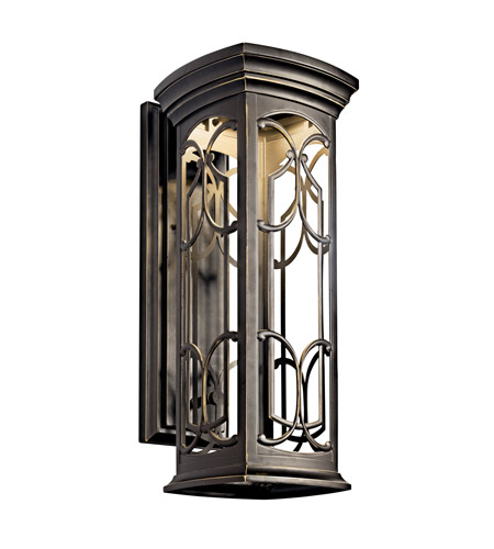 Kichler Lighting Franceasi LED Outdoor Wall Lantern in Olde Bronze 49228OZLED photo