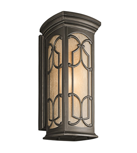 Kichler 49229OZ Franceasi 1 Light 25 inch Olde Bronze Outdoor Wall Lantern in Standard photo