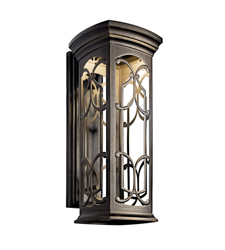Kichler 49229OZLED Franceasi LED 25 inch Olde Bronze LED Outdoor Wall Lantern photo