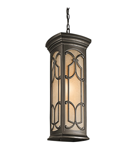 Kichler Lighting Franceasi 1 Light Outdoor Pendant in Olde Bronze 49231OZ photo