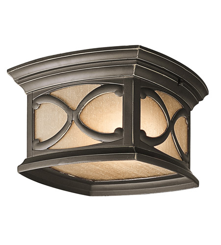 Kichler Lighting Franceasi 2 Light Outdoor Flush Mount in Olde Bronze 49232OZ