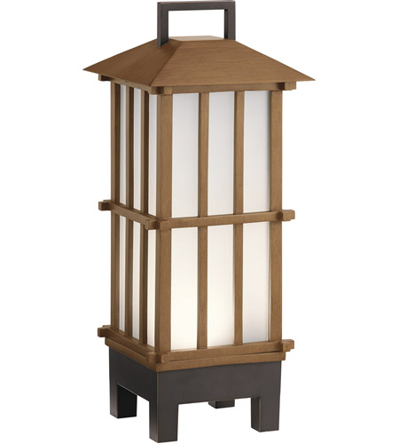 Kichler 49247BWFLED Davis 19 X 8 inch Bamboo Wood Outdoor Portable Lantern, Bluetooth photo