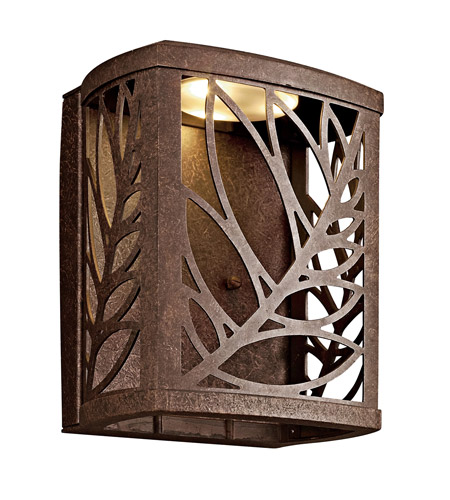 Kichler Lighting Takil LED Outdoor Wall Lantern in Aged Bronze 49250AGZLED