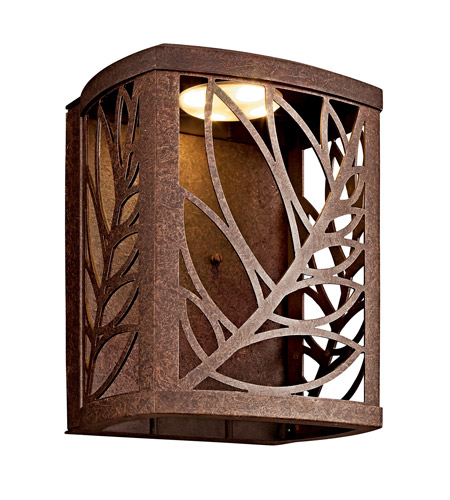 Kichler Lighting Takil LED Outdoor Wall Lantern in Aged Bronze 49251AGZLED