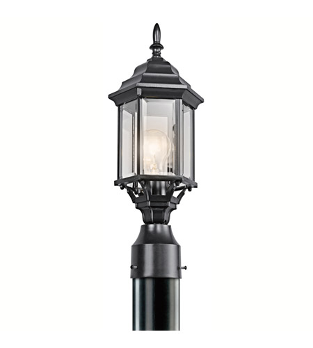 Kichler Lighting Chesapeake 1 Light Outdoor Post Lantern in Black 49256BK photo