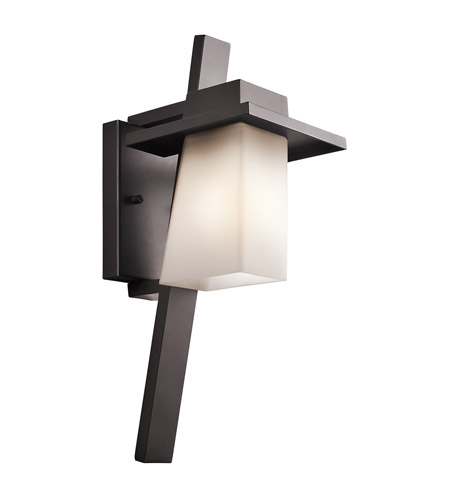 Kichler 49257AZ Stonebrook 1 Light 18 inch Architectural Bronze Outdoor Wall Lantern in Standard photo