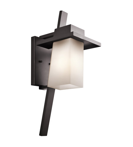 Kichler 49258AZ Stonebrook 1 Light 23 inch Architectural Bronze Outdoor Wall Lantern in Standard photo