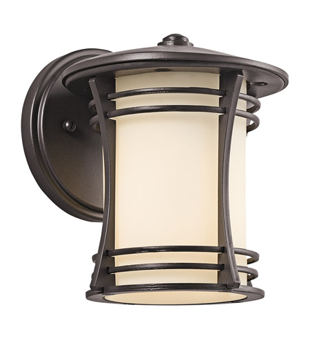Kichler Lighting Courtney Point 1 Light Outdoor Wall Lantern in Architectural Bronze 49259AZ photo