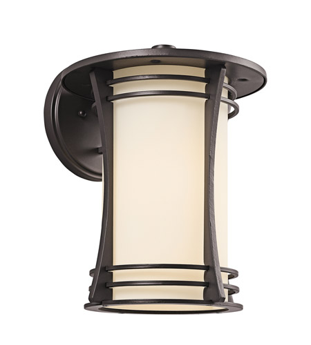 Kichler Lighting Courtney Point 1 Light Outdoor Wall Lantern in Architectural Bronze 49261AZ
