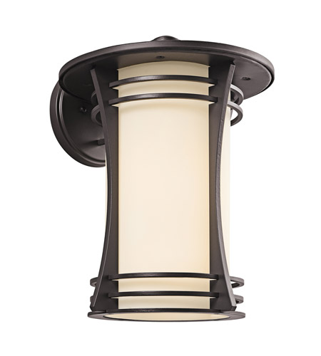 Kichler Lighting Courtney Point 1 Light Outdoor Wall Lantern in Architectural Bronze 49262AZ photo