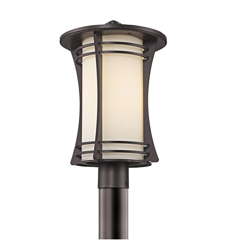 Kichler Lighting Courtney Point 1 Light Outdoor Post Lantern in Architectural Bronze 49264AZ photo