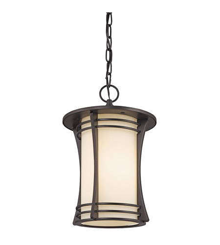 Kichler Lighting Courtney Point 1 Light Outdoor Hanging in Architectural Bronze 49265AZ photo