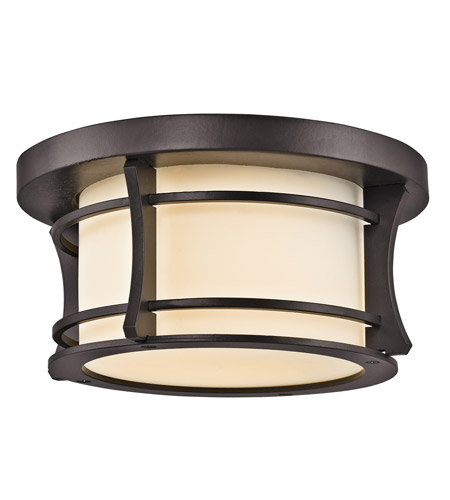 Kichler Lighting Courtney Point 1 Light Outdoor Flush Mount in Architectural Bronze 49266AZ