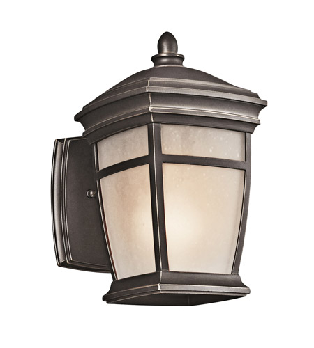 Kichler 49270RZ McAdams 1 Light 9 inch Rubbed Bronze Outdoor Wall Lantern in Standard photo