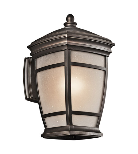 Kichler 49271RZ McAdams 1 Light 14 inch Rubbed Bronze Outdoor Wall Lantern in Standard photo