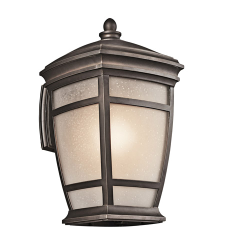 Kichler 49272RZ McAdams 1 Light 18 inch Rubbed Bronze Outdoor Wall Lantern photo