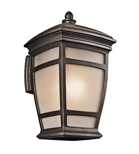 Kichler 49273RZ McAdams 1 Light 21 inch Rubbed Bronze Outdoor Wall Lantern photo