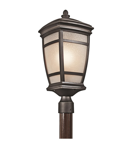 Kichler Lighting McAdams 1 Light Outdoor Post Lantern in Rubbed Bronze 49274RZ