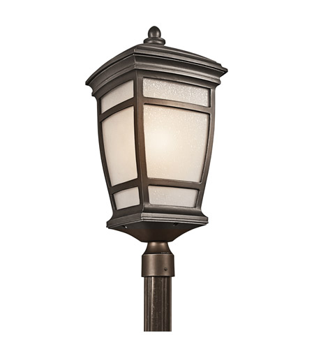 Kichler Lighting McAdams 1 Light Outdoor Post Lantern in Rubbed Bronze 49275RZ