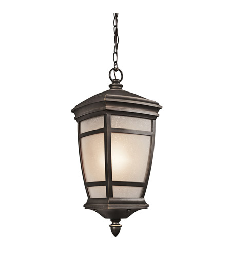 Kichler Lighting McAdams 1 Light Outdoor Pendant in Rubbed Bronze 49276RZ photo