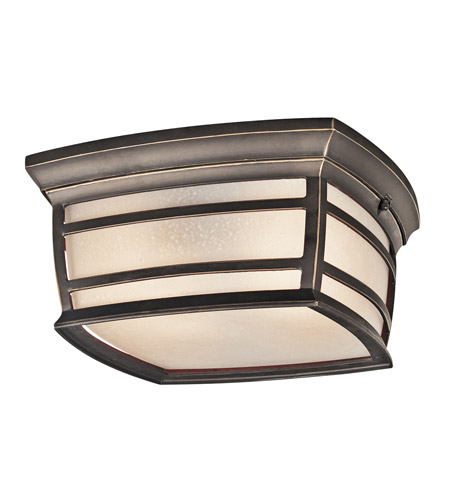 Kichler Lighting McAdams 2 Light Outdoor Flush Mount in Rubbed Bronze 49277RZ