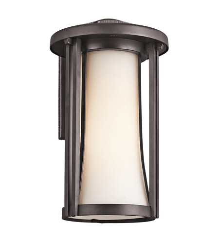 Kichler Lighting Tiverton 1 Light Outdoor Wall Lantern in Architectural Bronze 49280AZ photo