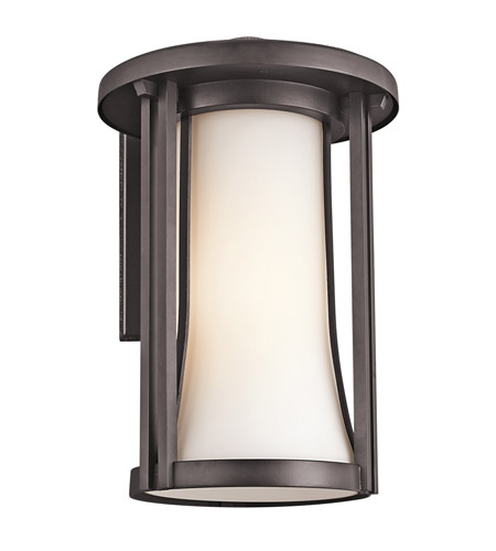 Kichler Lighting Tiverton 1 Light Outdoor Wall Lantern in Architectural Bronze 49281AZ