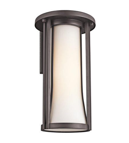 Kichler Lighting Tiverton 1 Light Outdoor Wall Lantern in Architectural Bronze 49282AZ