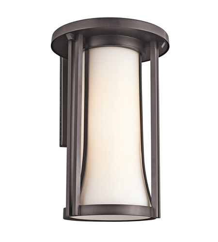 Kichler Lighting Tiverton 1 Light Outdoor Wall Lantern in Architectural Bronze 49283AZ