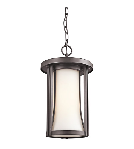 Kichler Lighting Tiverton 1 Light Outdoor Pendant in Architectural Bronze 49284AZ photo