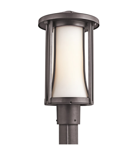 Kichler Lighting Tiverton 1 Light Outdoor Post Lantern in Architectural Bronze 49285AZ photo