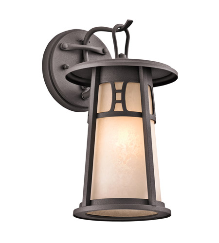 Kichler Lighting Oak Bluffs 1 Light Outdoor Wall Lantern in Textured Architectural Bronze 49300AZT photo