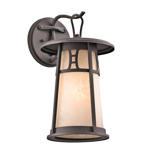 Kichler Lighting Oak Bluffs 1 Light Outdoor Wall Lantern in Textured Architectural Bronze 49301AZT photo