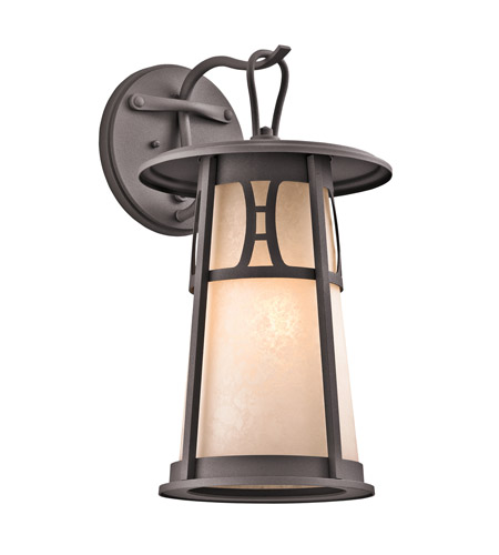 Kichler Lighting Oak Bluffs 1 Light Outdoor Wall Lantern in Textured Architectural Bronze 49302AZT