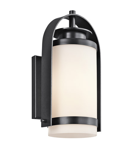 Kichler Lighting Westport 1 Light Outdoor Wall Lantern in Black (Painted) 49314BK