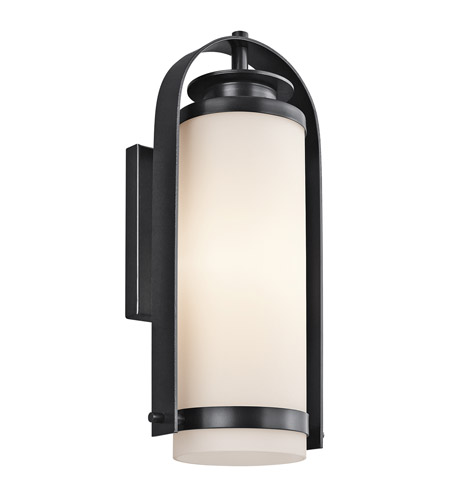 Kichler Lighting Westport 1 Light Outdoor Wall Lantern in Black 49315BK photo