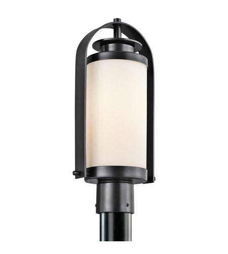 Kichler Lighting Westport 1 Light Outdoor Post Lantern in Black 49317BK photo
