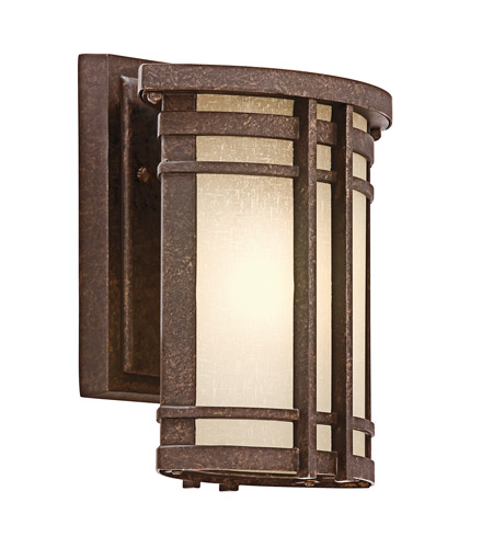 Kichler Lighting Crosett 1 Light Outdoor Wall Lantern in Aged Bronze 49318AGZ