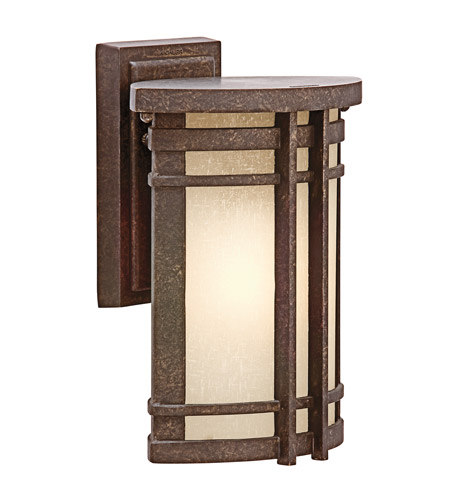 Kichler Lighting Crosett 1 Light Outdoor Wall Lantern in Aged Bronze 49319AGZ