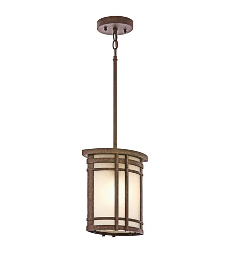 Kichler Lighting Crosett 1 Light Outdoor Pendant in Aged Bronze 49320AGZ