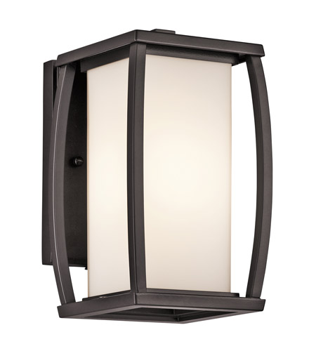 Kichler Lighting Bowen 1 Light Outdoor Wall Lantern in Architectural Bronze 49336AZ photo