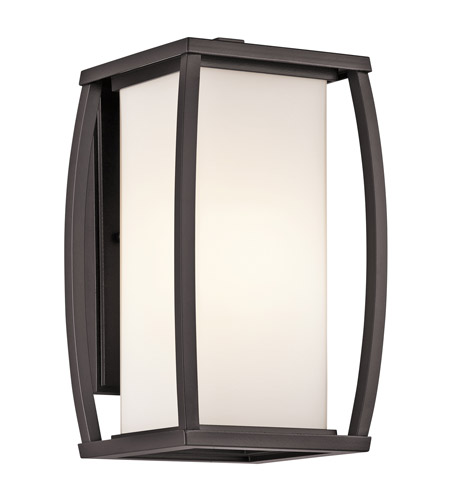 Kichler Lighting Bowen 1 Light Outdoor Wall Lantern in Architectural Bronze 49337AZ